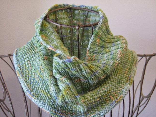 Cowl Neck Knitting Pattern (Water Lilies)