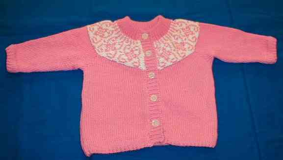 pink Knitting Baby Sweater