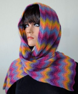 Scarf Knitting Patterns Electric Sunrise