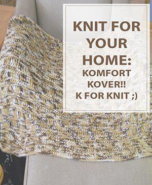 Free Knitting Pattern Komfort Kover!