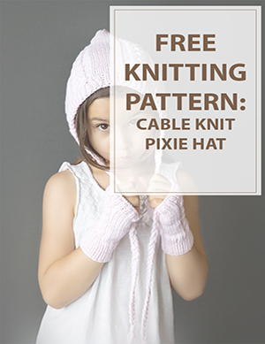 Knit Hat Patterns Cable Pixie
