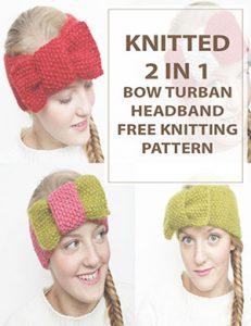 Knit Headband 2in1 BowTurban