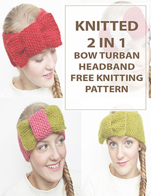 Knit Headband 2in1 BowTurban