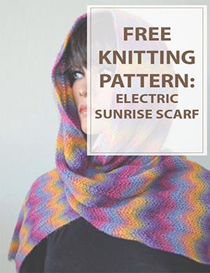 Scarf Knitting Patterns Electric Sunrise