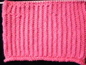 Knitting Rib With Unwoven Stitches
