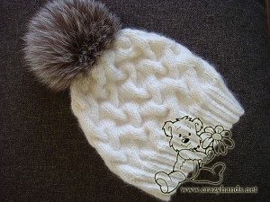 Knitting Hat With Pom-Pom