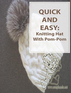 Knitting Hat With Pom-Pom