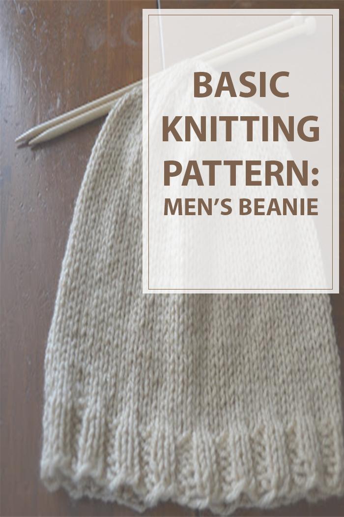 Knit Beanie Basic Mens - Housewives Hobbies