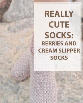 Knitting Pattern Berries and Cream Slipper Socks