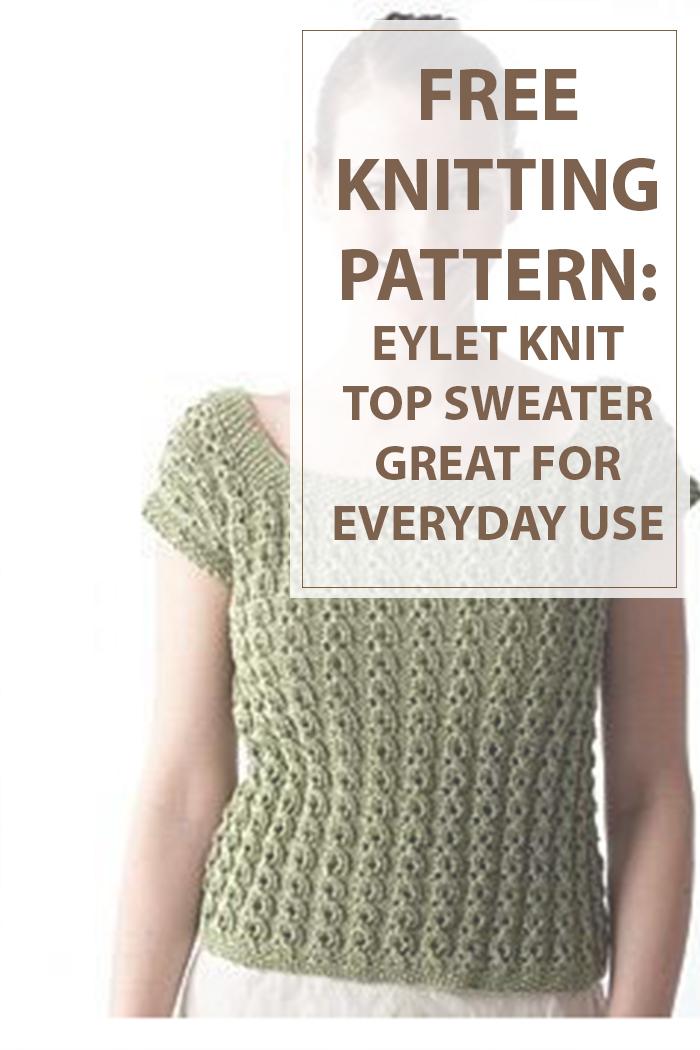 How to knit eyelet knit top sweater