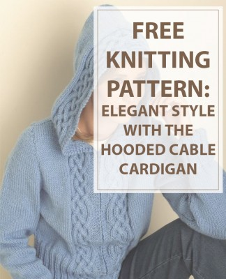 Cardigan Knitting Pattern Hooded Cable