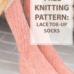 Knitting Lace Toe-Up Socks Pattern