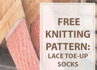 Knitting Lace Toe-Up Socks Pattern