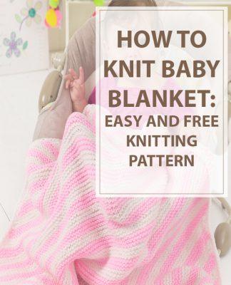 Baby Blanket Knitting Pattern Peppermint Stripes