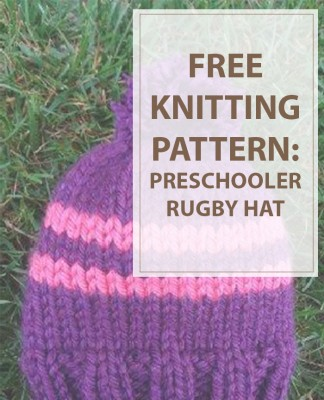 Knit Hat Patterns Preschooler Rugby
