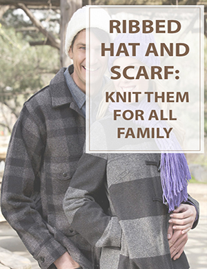 Ribbed Hat And Scarf Knitting Pattern