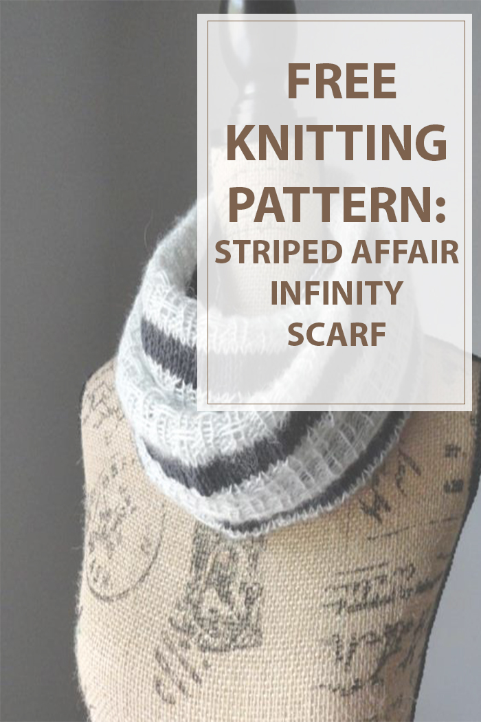 Knit Scarf Pattern Striped Affair Infinity - Housewives Hobbies