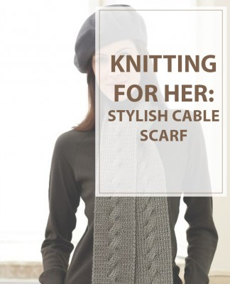 Cable Knit Stylish Scarf