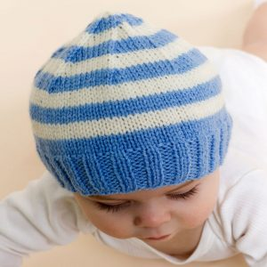 Baby Hat Knitting Pattern Stripe