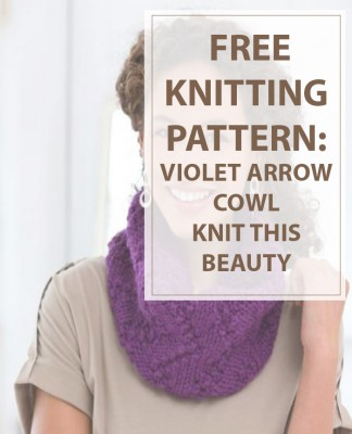 Infinity Scarf Knitting Pattern (Violet Arrow)