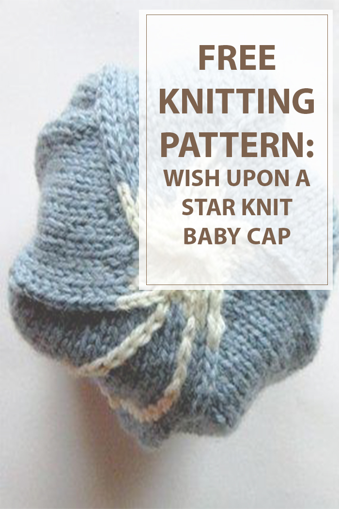 knit Wish Upon a Star Baby Cap
