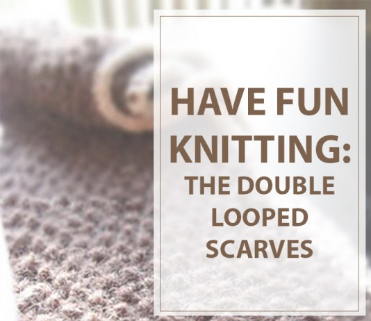 Knitted Scarves Double Looped
