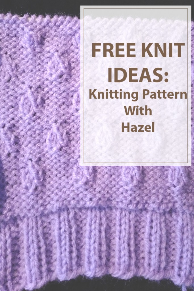 Knitting Pattern Hazel