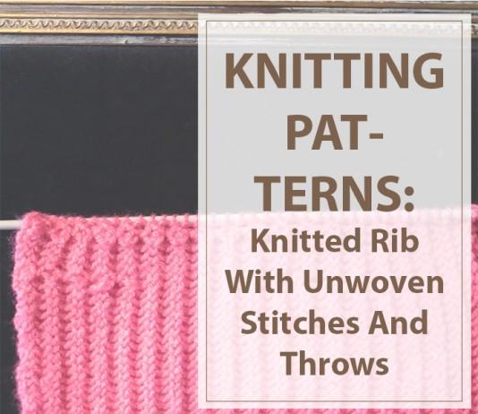 Knitting Rib With Unwoven Stitches