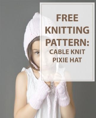 Knit Hat Patterns Cable Pixie