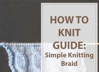 Simple Knitting Braid