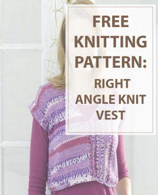 Vest Knitting Pattern Right Angle Knit Vest