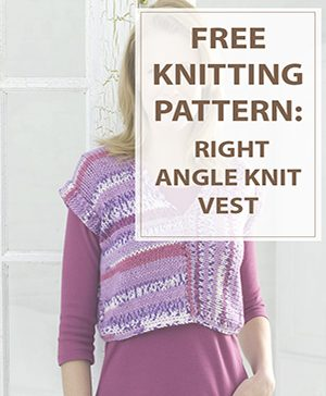 Vest Knitting Pattern Right Angle Vest