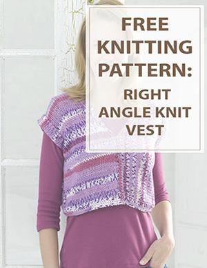 Vest Knitting Pattern Right Angle Vest