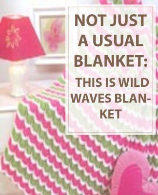 Knit Throw Wild Waves
