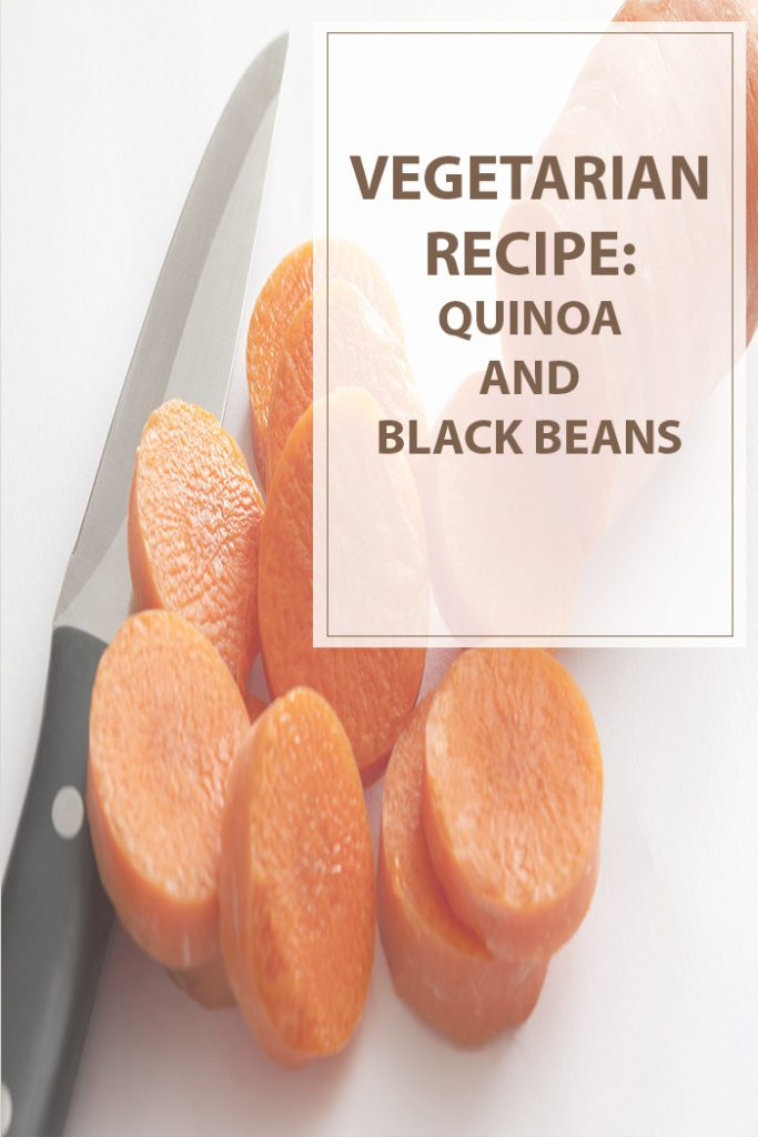 Quinoa and Black Beans *The image is unrelated with the recipe.