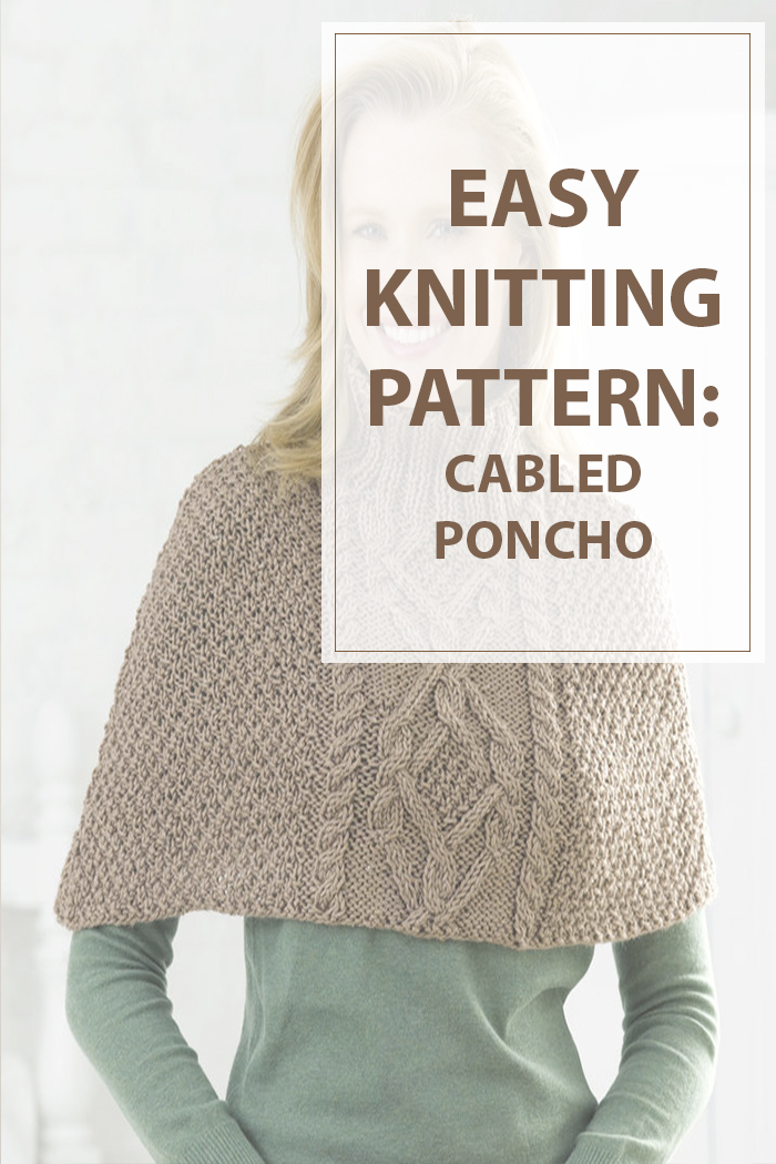 Knitting Instructions M1 : Knitting patterns cabled poncho housewives hobbies