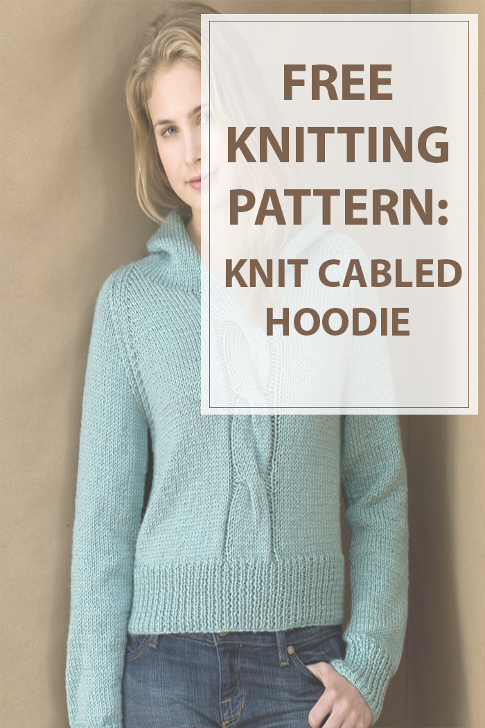 Knitting Pattern Cable Hoodie : Knit Cabled Hoodie Knitting Patterns - Housewives Hobbies