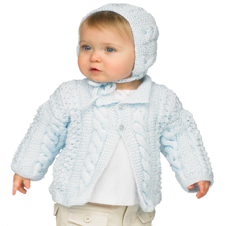 Baby Knitting Patterns Hat And Jacket