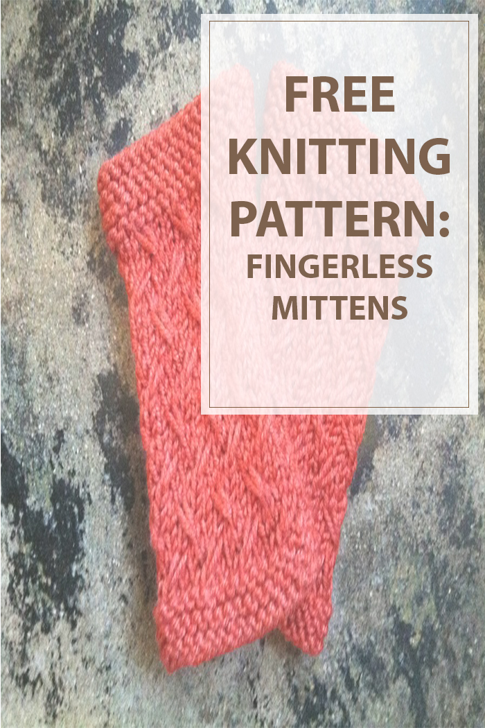 Knitting Pattern Fingerless Mittens Two Needles : Fingerless Mittens Knitting Pattern - Housewives Hobbies