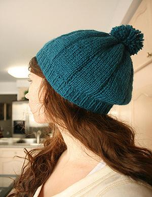 Blue Beret Knitting Pattern 2