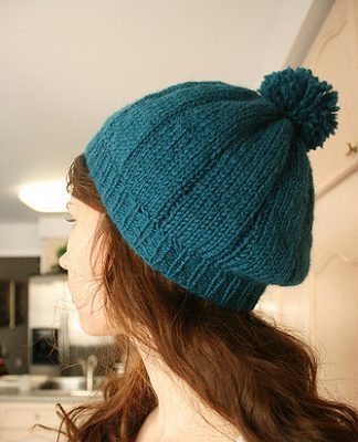 Blue Beret Knitting Pattern