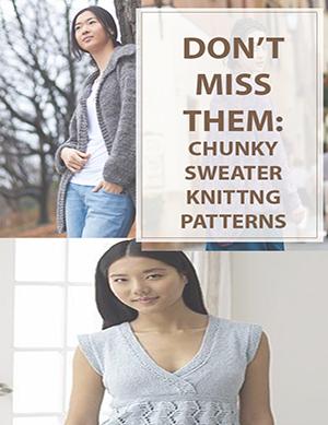 Chunky Sweater Knitting Pattern
