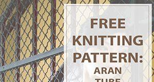 Aran Tube Top Free Knitting Pattern