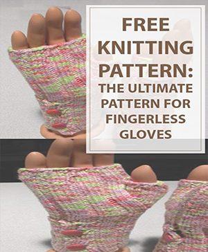 Buttoned Up Fingerless GlovesKnitting Pattern
