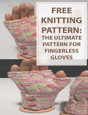 Buttoned Up Fingerless Gloves Knitting Pattern