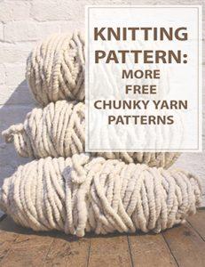 Free Knitting Patterns Chunky Yarn