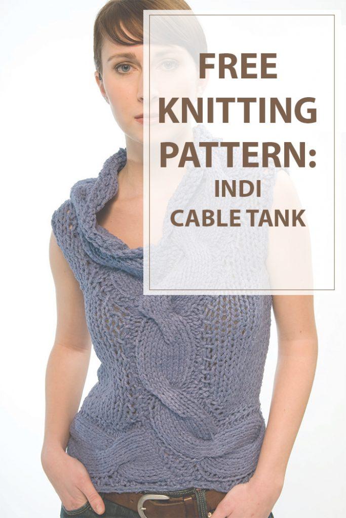 Indi Cable Tank Knitting Pattern