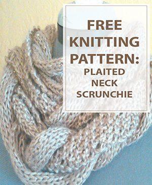 Plaited Neck Scrunchie Free Knitting Pattern