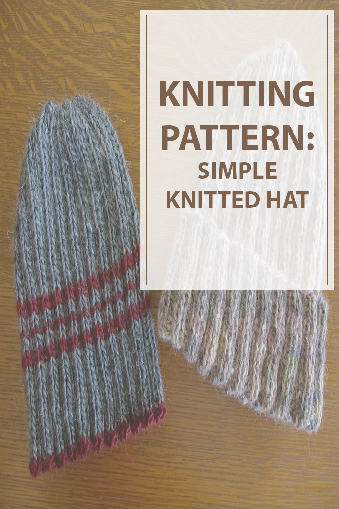 Simple Knitted Hat Pattern Free Housewives Hobbies