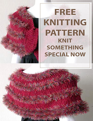 Tingle Knit Shrug Free Knitting Pattern